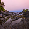 Twilight Hour At Low Tide On Juan De Fuca Trail - Botany Bay, Botanical Beach, Vancouver Island, BC, Canada