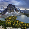 Mount Assiniboine peaks surrounding Lake Magog