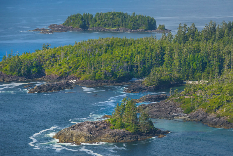 The Chain Of Islands Along The Coastline Clayoquot Sound ,Tofino, and Ucluelet By Air,  Vancouver Island, BC, Canada