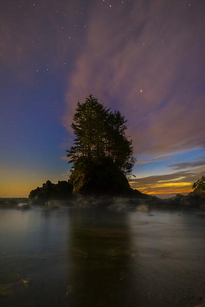 Haystack Under The Stars At Botanical Beach - Botany Bay, Botanical Beach, Vancouver Island, BC, Canada