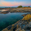 The Twilight Colors Reflecting Back Into The Ocean - Uplands Park, Oak Bay, BC, Canada