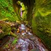 Sombrio Hidden Waterfall Cave - Sombrero Beach, Juan De Fuca Trail, Vancouver Island, BC, Canada