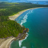 A Stretch Of Coastline With Grey Whale Clayoquot Sound ,Tofino, and Ucluelet By Air,  Vancouver Island, BC, Canada