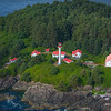 Lennard Island Lighthouse From The Air Clayoquot Sound ,Tofino, and Ucluelet By Air,  Vancouver Island, BC, Canada