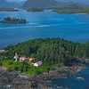 Lennard Island Lighthouse And Surrounding Islands Clayoquot Sound ,Tofino, and Ucluelet By Air,  Vancouver Island, BC, Canada