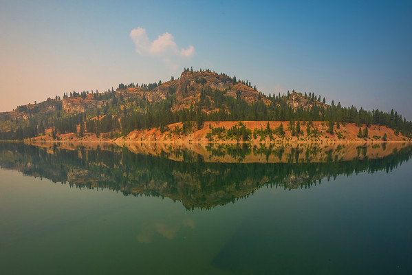 The Still Reflections Of Lake Roosevelt - Lake Roosevelt Recreation Area, Central WA
