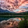 Surprise Sunset at Lake Patricia