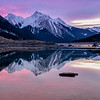 Pink Reflections of Medicine Lake