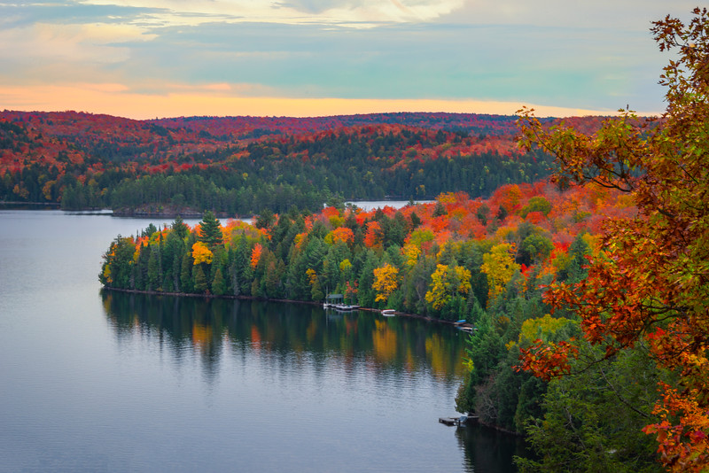 Inlet Of Color In Harbour - Algonquin Provincial Park, Nipissing, South Part, Ontario, Canada