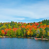The Surrounding Colors Around The Lake - Algonquin Provincial Park, Nipissing, South Part, Ontario, Canada