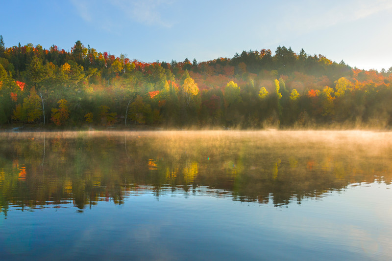 Mystery Mist In Symmetry - Algonquin Provincial Park, Nipissing, South Part, Ontario, Canada