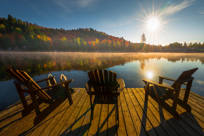 A Perfect Place To Relax For Sunrise - Algonquin Provincial Park, Nipissing, South Part, Ontario, Canada