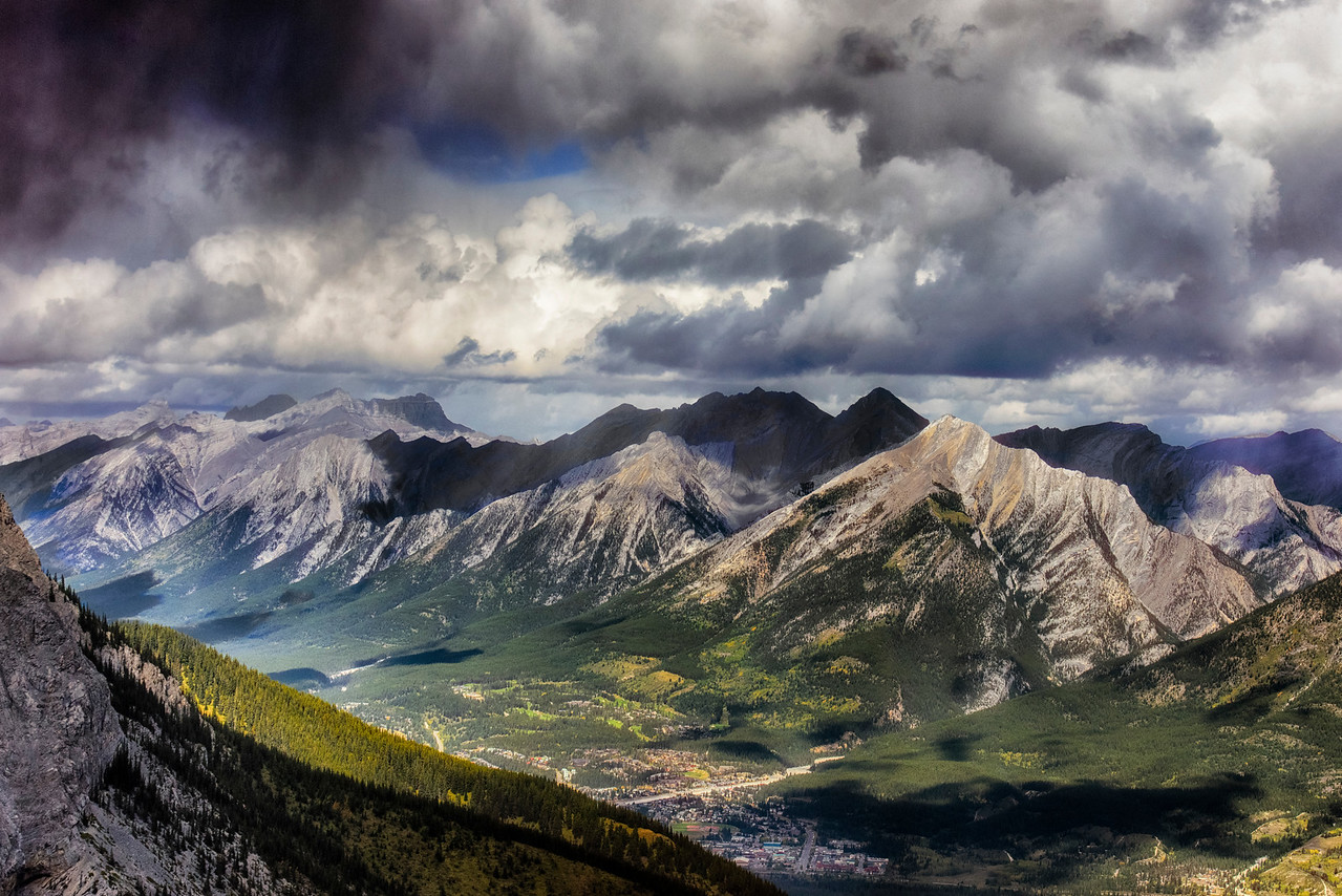 Vew from the Banff Gondola