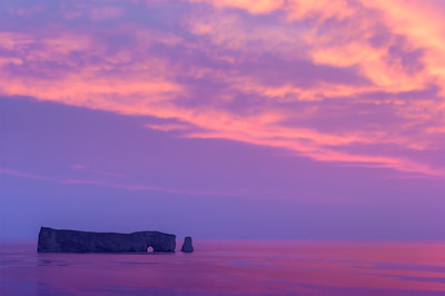 Sunrise at Percé