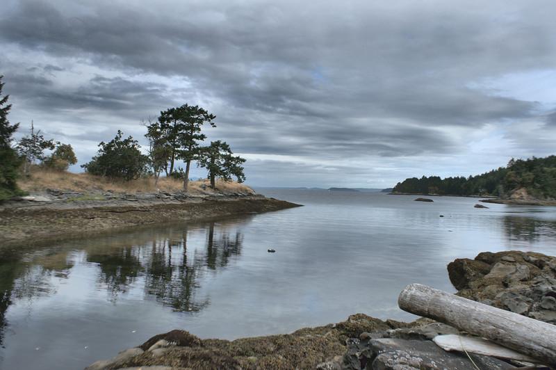 Bay at low tide.
