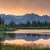 Golden mountain vista