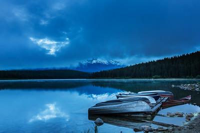 Boats at Patricia lake