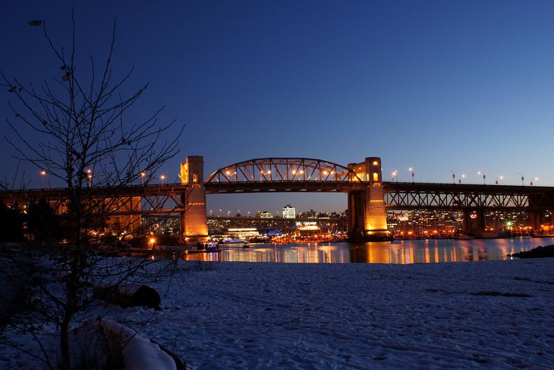 Burrard Bridge at night
