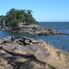 Bench at the passage Saturna Island BC