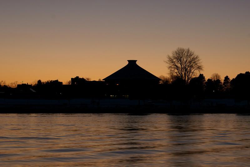 Vancouver planetarium sunset silhouette