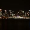 Vancouver skyline at night.