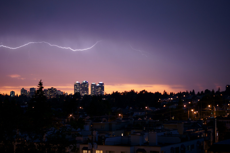 Vancouver lightning storm