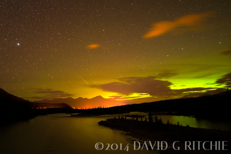 Northern Lights over Jasper, B.C.
