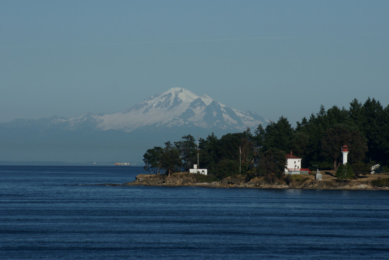 Mount Baker and Lighthouse