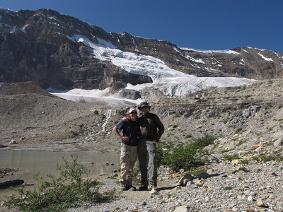 At one of the small glacial lakes along the Iceline Trail.
