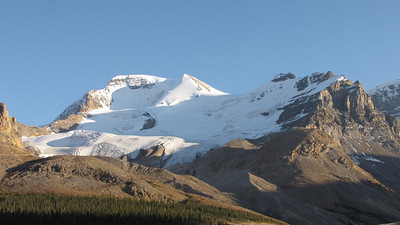 Mount Athabasca and it's cool glacier.
