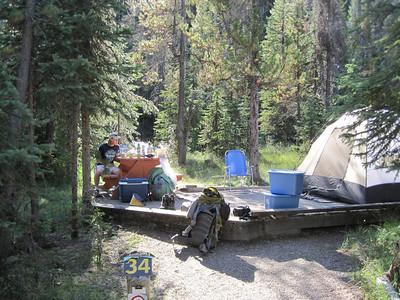 In camp at Takakkawa Falls Campground.
