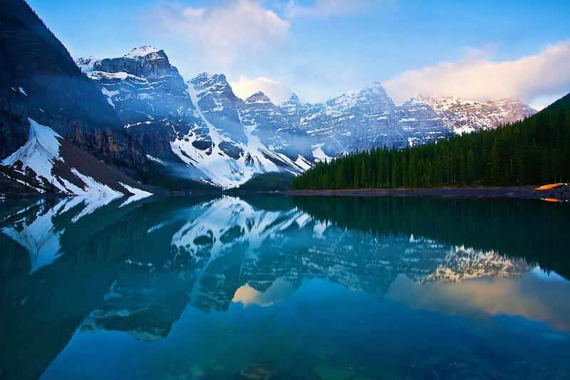 Canadian Rockies, Banff National Park, Moraine Lake, Landscape, 加拿大, 班夫国家公园 风景