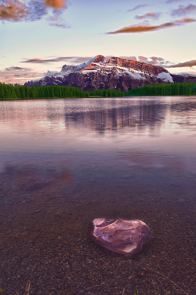 Canadian Rockies, Banff National Park, Two Jack Lake, Sunset, Landscape, HDR, 加拿大, 班夫国家公园 风景, 高动态范围拍摄