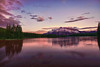 Canadian Rockies, Banff National Park, Two Jack Lake, Sunset, Landscape, HDR, 加拿大, 班夫国家公园 风景