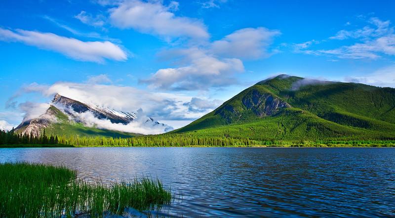 Canadian rockies, Banff National Park, Vermilion  Lake, Landscape 风景