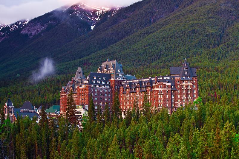 Canadian Rockies, Banff National Park, Fairmont Banff Springs, Landscape, 加拿大, 班夫国家公园 风景