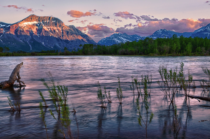 Canadian Rockies, Waterton Lake National Park,   Sunset, Landscape,  HDR, 加拿大, 洛矶山脉, 沃特顿国家公园, 风景, 高动态范围拍摄