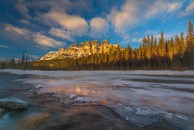 Castle Mountain Overlooking Bow River
