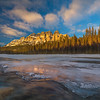 Castle Mountain Overlooking Bow River_Alberta