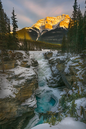 Athabasca Falls in Winter