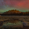 Castle Mountain Against Borealis