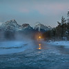 First Light and the Frazil Ice in Bow River