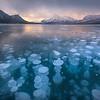 Methane Bubbles_Abraham Lake 1