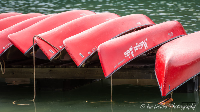 Red Boats of Maligne Lake