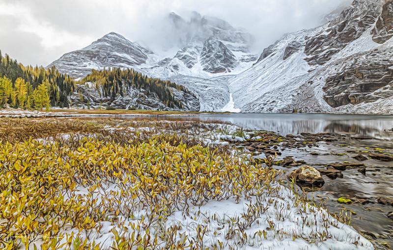 Mt. Assiniboine Enshrouded by Overcast