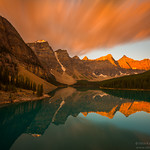"Moraine Lake at Dawn before snow storm, Banff National Park, Canadian Rockies, Alberta, Canada <br /> <br /> Check out my blog for more details on how did i capture this image and processed it: <a href=""http://nitinkansalphotography.blogspot.com/2012/09/dawn-light-before-snow-storm-at-valley.html"">http://nitinkansalphotography.blogspot.com/2012/09/dawn-light-before-snow-storm-at-valley.html</a>"