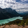 (Nearly) Clear Skies at Peyto Lake
