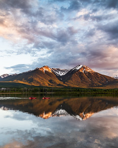 Sunset over Vermilion Lakes
