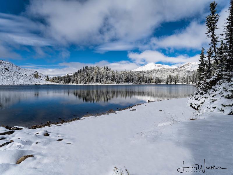 Mid-morning Reflections on Sunburst Lake