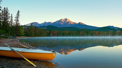 Pyramid Mountain behind Lake Edith - Jasper National Park, Alberta
